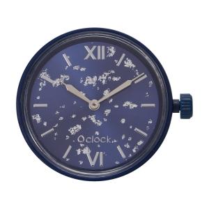 Mechanizm zegarka O clock silver leaf Blu navy
