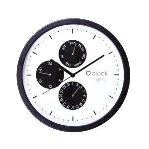O Clock Wall Great Date Nero Su Bianco