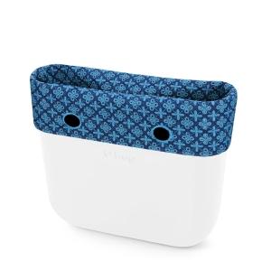 Opaska | Mini Sangallo su denim | Azzurro