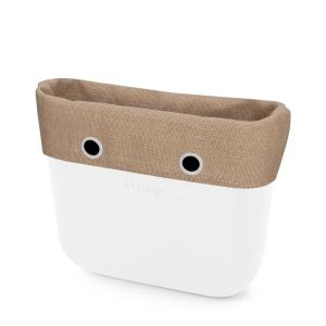 Opaska | Mini O bag | Tessuto juta | Naturale