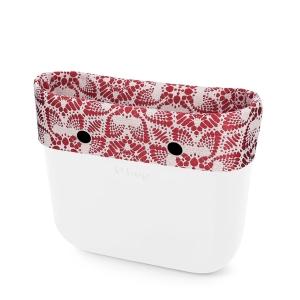 Opaska | Mini O bag | Tessuto riviera Rosso