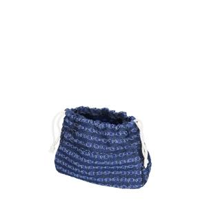 Organizer O swing | Tessuto denim traforato | Cobalto