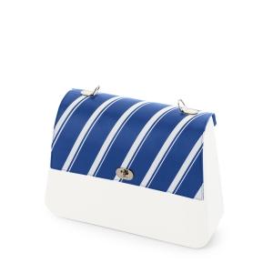 Klapka O bag Queen | Ecopelle active stripes | Bluette