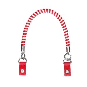 Krótki uchwyt | Manichetto tubolare spirale bicolor + clip | Rosso