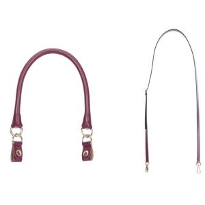 Uchwyt | Tracolla extraslim 110 + manichetto tubolare + clip | Bordeaux