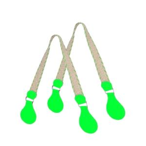 Uchwyty | Juta tessuto gommato | Fluo verde